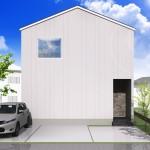 新潟市江南区城所の【分譲地】区画2の建物プラン例の外観パース
