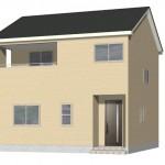 新潟市東区松園の新築住宅の外観完成予定パース