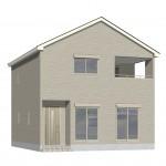 新発田市本町の新築住宅の外観完成予定パース