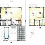 新潟市中央区大島の中古住宅の間取図