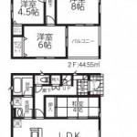 新潟市西区西小針台の新築住宅1号棟の間取図