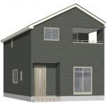 新潟市北区嘉山の新築住宅2号棟の外観完成予定パース