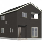 新潟市北区早通北の新築住宅2号棟の外観完成予定パース