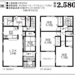 新潟市西区坂井東第7の新築住宅の間取図