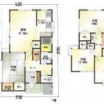 新潟市東区中野山の中古住宅の間取図