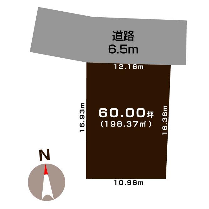 上越市頸城区下吉の【土地《全2区画》】不動産情報の敷地図