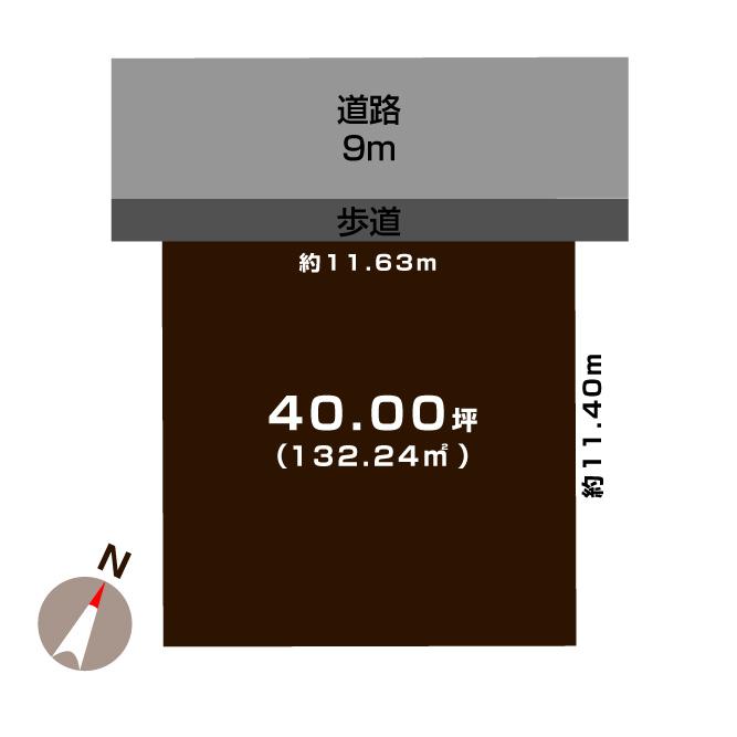 新潟市西区坂井の【土地】の敷地図