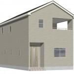 新潟市西区坂井の新築住宅2号棟の外観完成予定パース