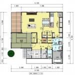 新発田市西園町の土地の建物プラン例の1階間取図