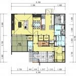新発田市本町の土地の建物プラン例の1階間取り図