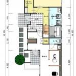 新潟市中央区関屋昭和町の【土地】不動産情報(建物プラン提案付)の1階間取図
