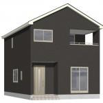 新潟市西区坂井の新築住宅1号棟の外観完成予定パース