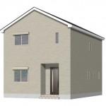 新潟市東区末広町の新築住宅1号棟の外観完成予定パース