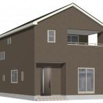 新潟市東区中山の新築住宅1号棟の外観完成予定パース