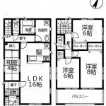 新潟市中央区湊町通の【新築住宅1号棟】の間取図