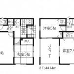 新潟市東区末広町の新築住宅1号棟の間取図