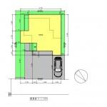 新発田市西園町の土地の建物プラン例の配置図