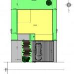 新発田市本町の土地の建物プラン例の配置図