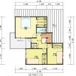 新発田市西園町の土地の建物プラン例の2階間取図