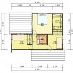 新発田市本町の土地の建物プラン例の2階間取り図
