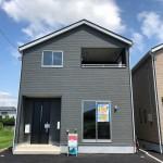 新潟市北区嘉山の新築住宅2号棟の外観写真