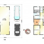 新潟市中央区女池の中古住宅の間取図
