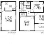 新潟市東区中山の新築住宅【3号棟】の間取図