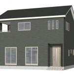 新潟市東区紫竹の新築住宅2号棟の外観完成予定パース