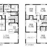 新潟市秋葉区新金沢町の新築住宅の間取図