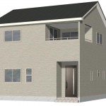 新潟市東区中山の新築住宅2号棟の外観完成予定パース