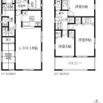 新潟市秋葉区大鹿の新築住宅【3号棟】の間取図