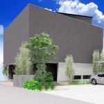 新潟市中央区南万代町土地の建物プラン例①の外観パース