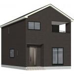 新潟市江南区旭の新築住宅(2号棟)の外観完成予定パース