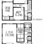 新潟市江南区旭の新築住宅(1号棟)の間取図