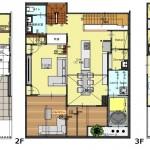 新潟市中央区南万代町土地の建物プラン例①の間取り図
