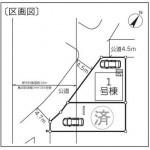 新潟市江南区旭の新築住宅の区画図