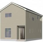 新潟市秋葉区大鹿の新築住宅2号棟の外観完成予定パース
