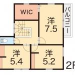 新潟市秋葉区結の【中古住宅】の2階間取図