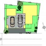 新潟市中央区南万代町土地の建物プラン例②の配置図