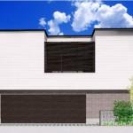 新潟市中央区南万代町土地の建物プラン例②の外観パース