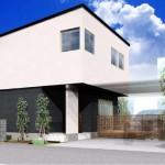 新潟市中央区南万代町土地の建物プラン例③の外観パース