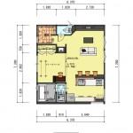 新潟市中央区南万代町土地の建物プラン例③の2階間取り図