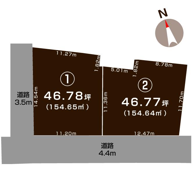 新潟市中央区南万代町の敷地図