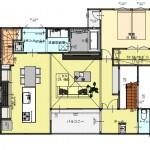 新潟市中央区南万代町土地の建物プラン例②の2階間取り図