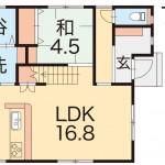 新潟市秋葉区結の【中古住宅】の1階間取図