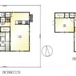 新潟市南区西白根の中古住宅の間取図