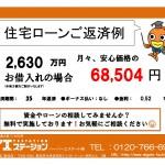 新潟市西区五十嵐1の町の新築住宅の住宅ローン返済例