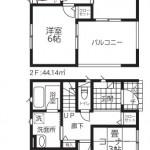 新潟市北区松浜の新築住宅【3号棟】の間取図