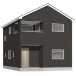 新発田市城北町の新築住宅の2号棟外観パース
