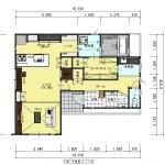 新発田市城北町土地の建物プラン例1の1階間取り図